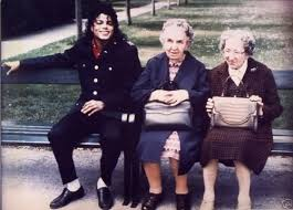 Jacko with old ladies