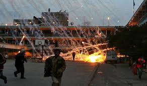 White Phosphorus bombing